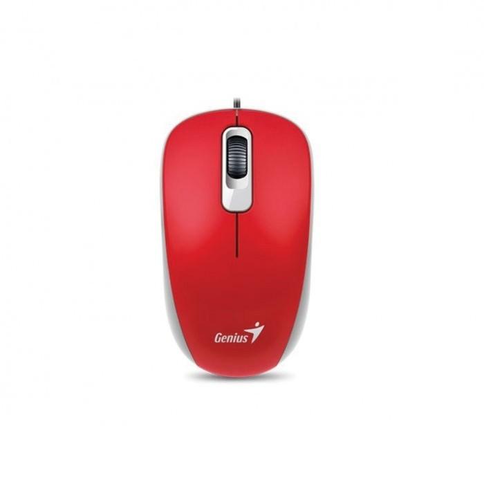 Mouse Óptico USB Genius Wired Vermelho DX-110