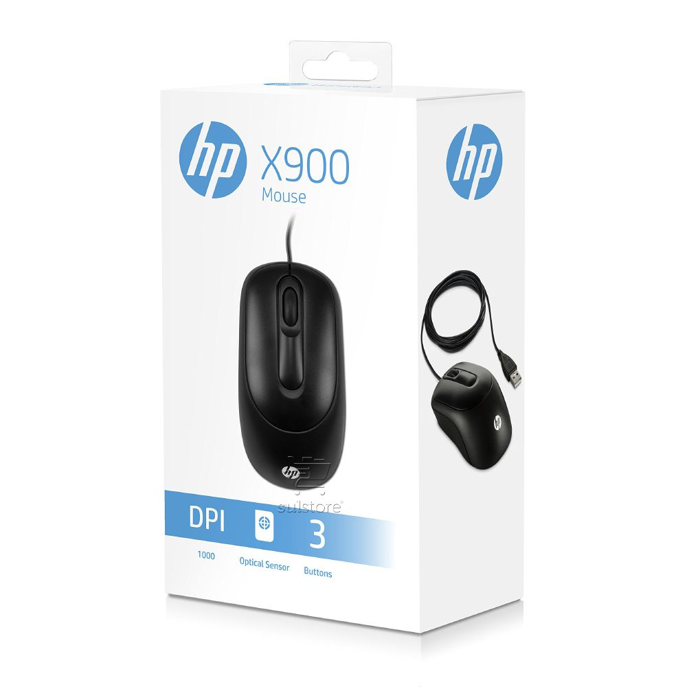 Mouse Optico USB HP X900 1000DPI Preto V1S46AA#ABL