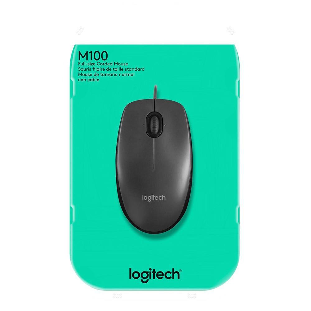 Mouse Optico USB M100 Logitech 1000 DPI