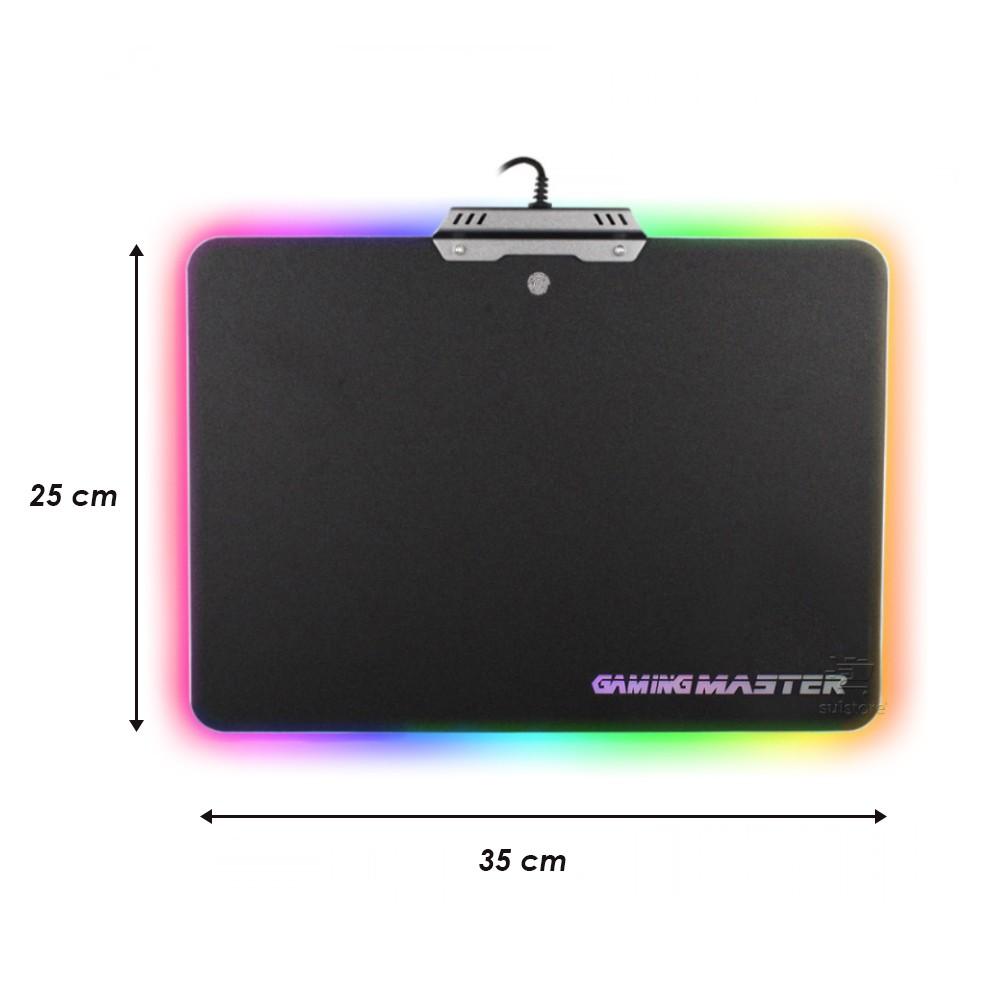 Mouse Pad Gaming Para Jogos com LED RGB FX-X3525 Grande 35cm x 25cm Gamer K-mex