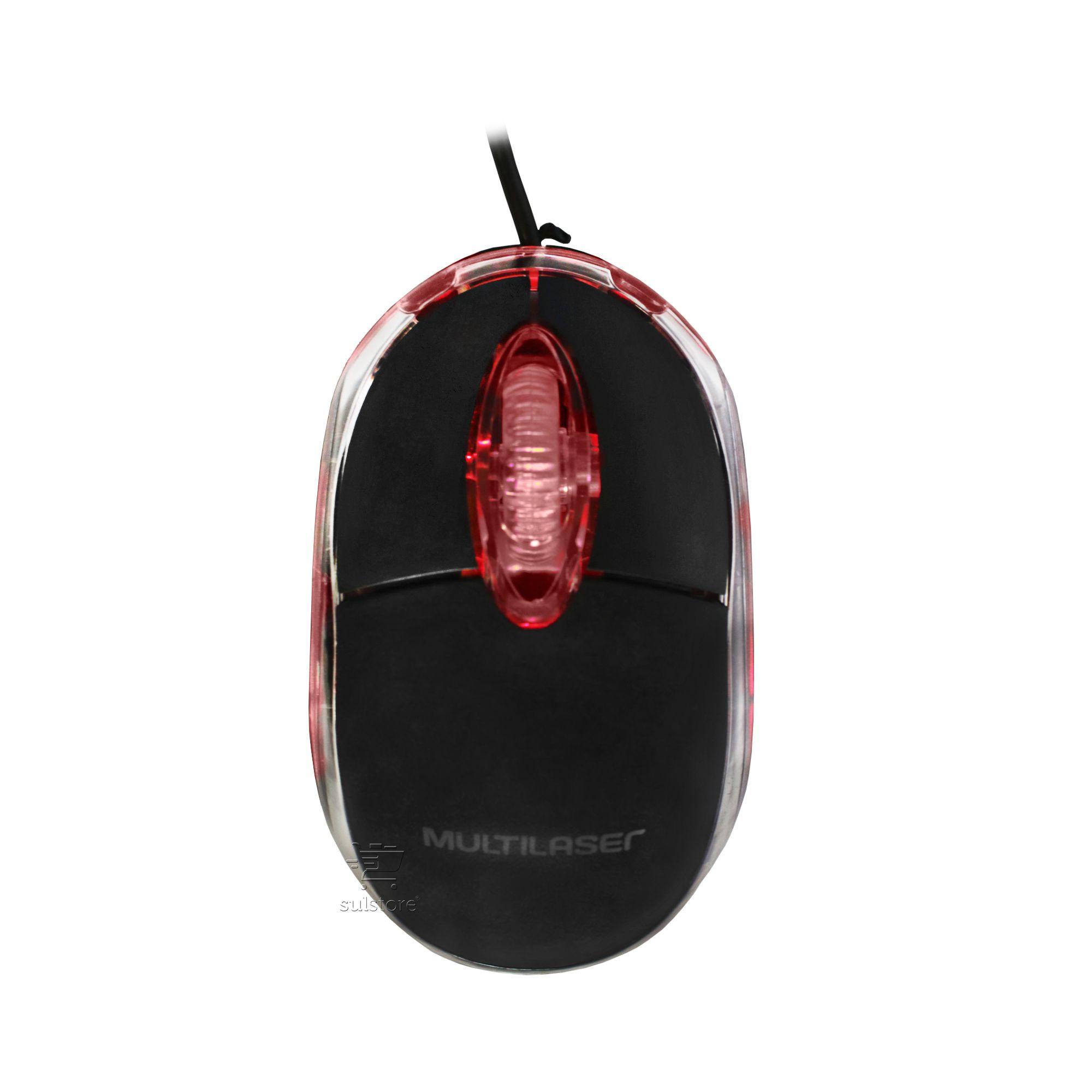 Mouse PS2 Optico Preto Multilaser MO031 1200DPI