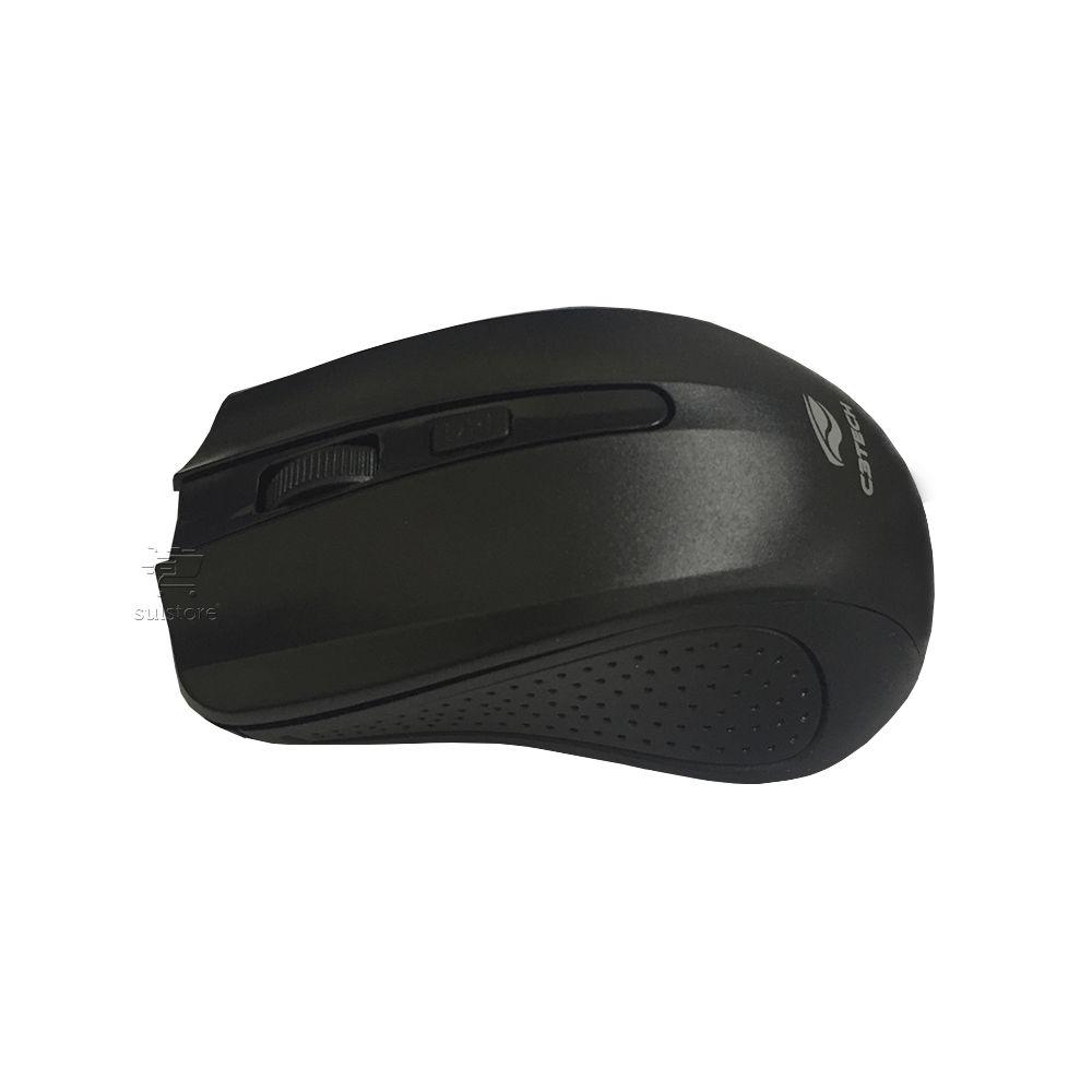 Mouse Sem Fio Óptico M-W20BK C3 Tech 1000 DPI Preto