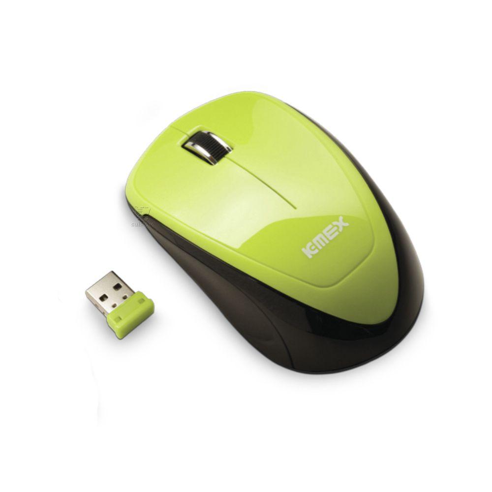 Mouse Sem Fio Óptico Receptor USB K-mex MA-9E33 Ergonômico