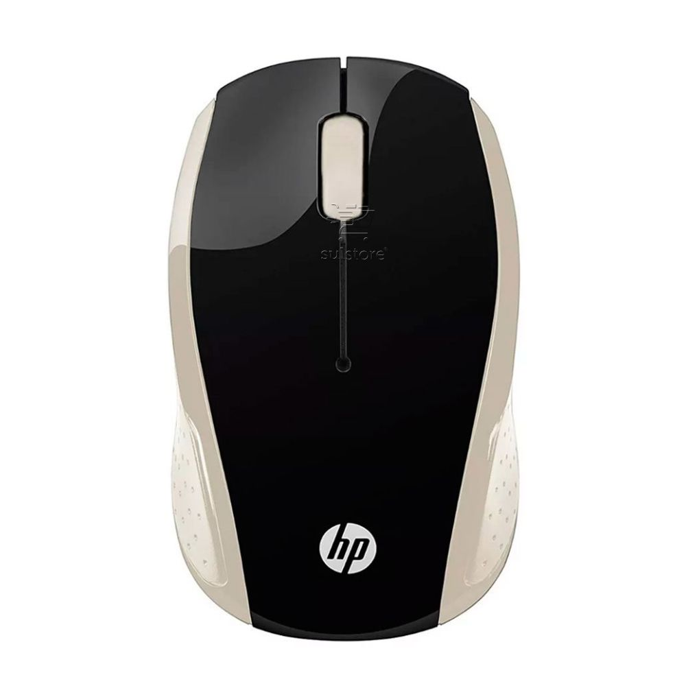 Mouse Sem Fio Wireless HP X200GL 2,4 GHz Oman 1000dpi Optico Preto Com Dourado