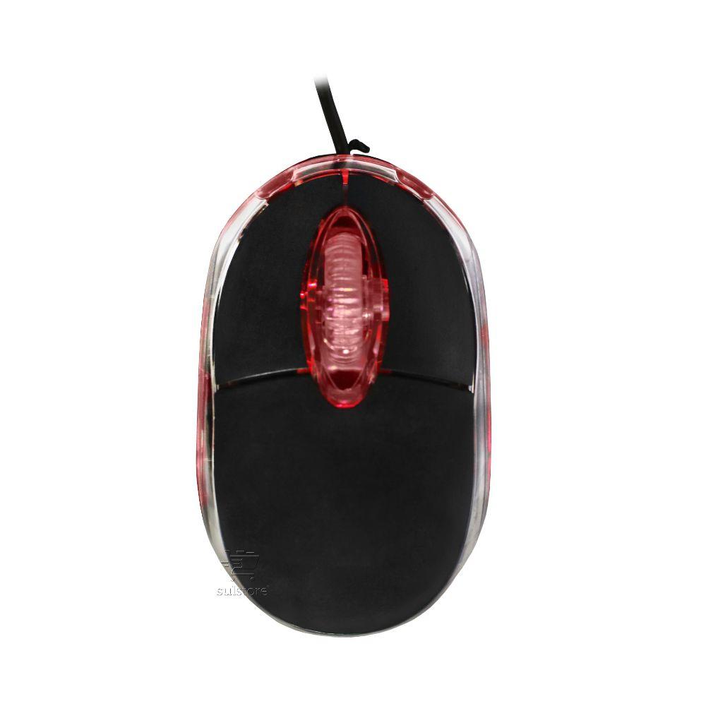 Mouse USB Multilaser MO130 3 Botões 1200 DPI LED Vermelho