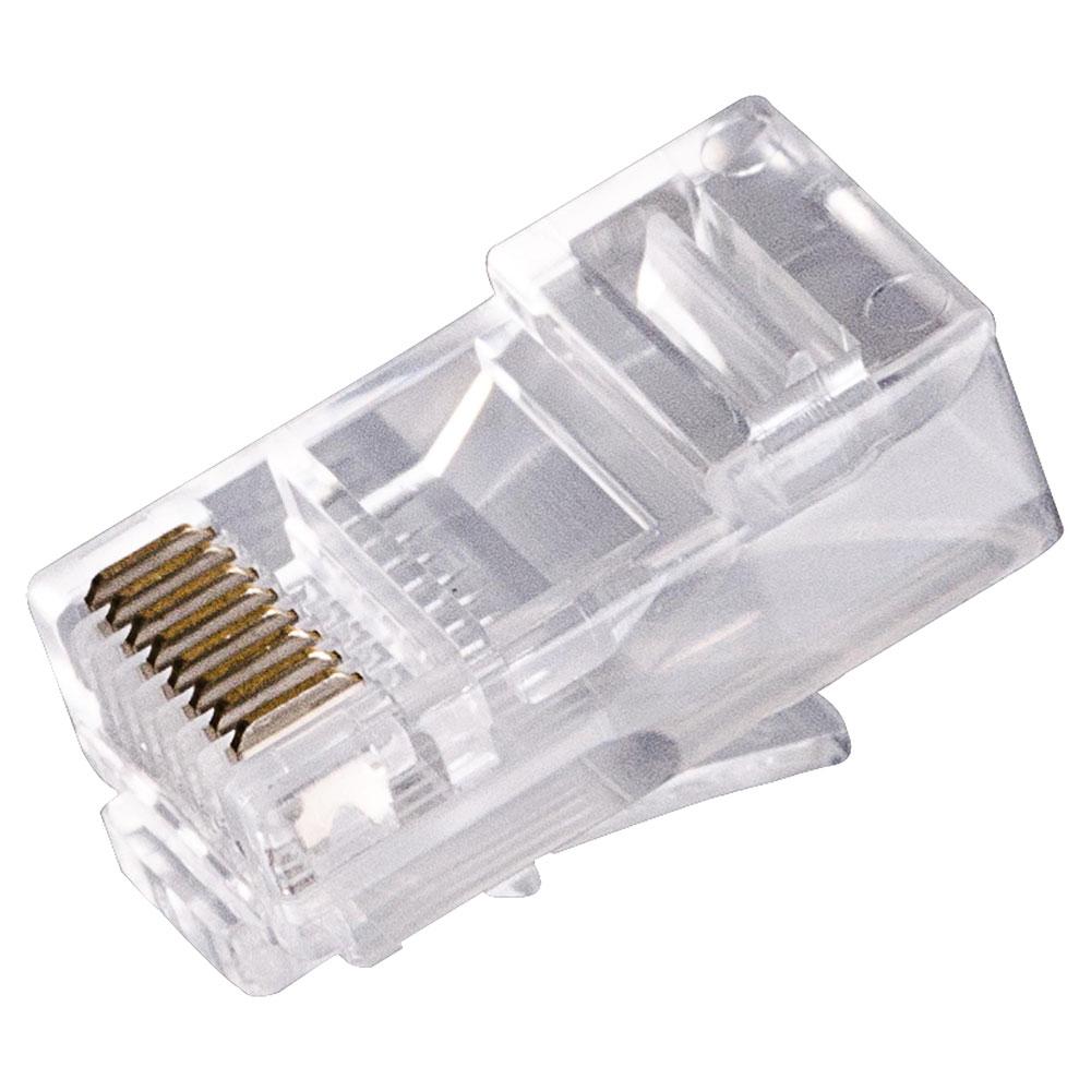 Pacote Com 100 Conector RJ-45 CAT6 Utp 8P8C Plug Dourado Mymax