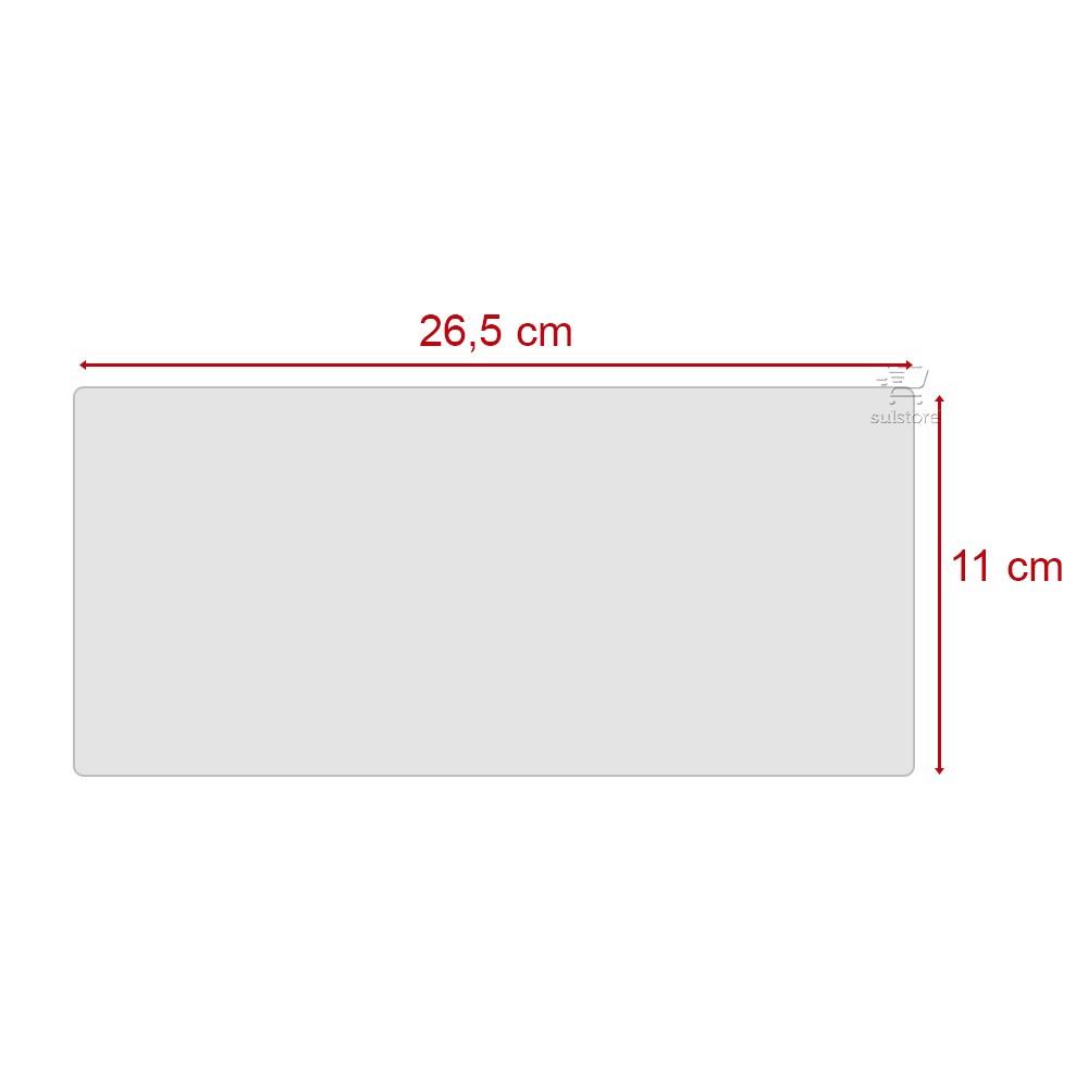 Película Silicone Transparente Para Teclado de Notebook 26,5cm x 11cm