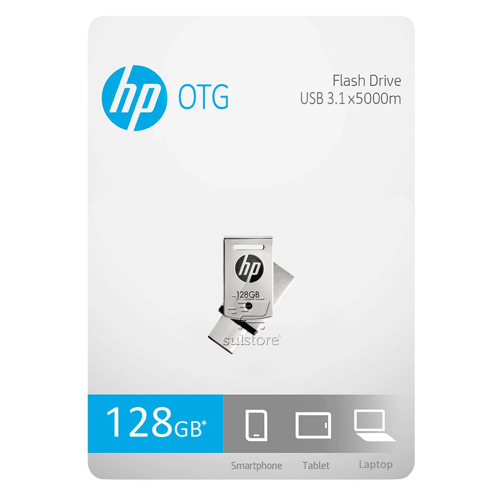 Pendrive 128gb HP OTG X5000M USB 3.1 Tipo C e A Smartphone Tablet ( 2 Conexões)