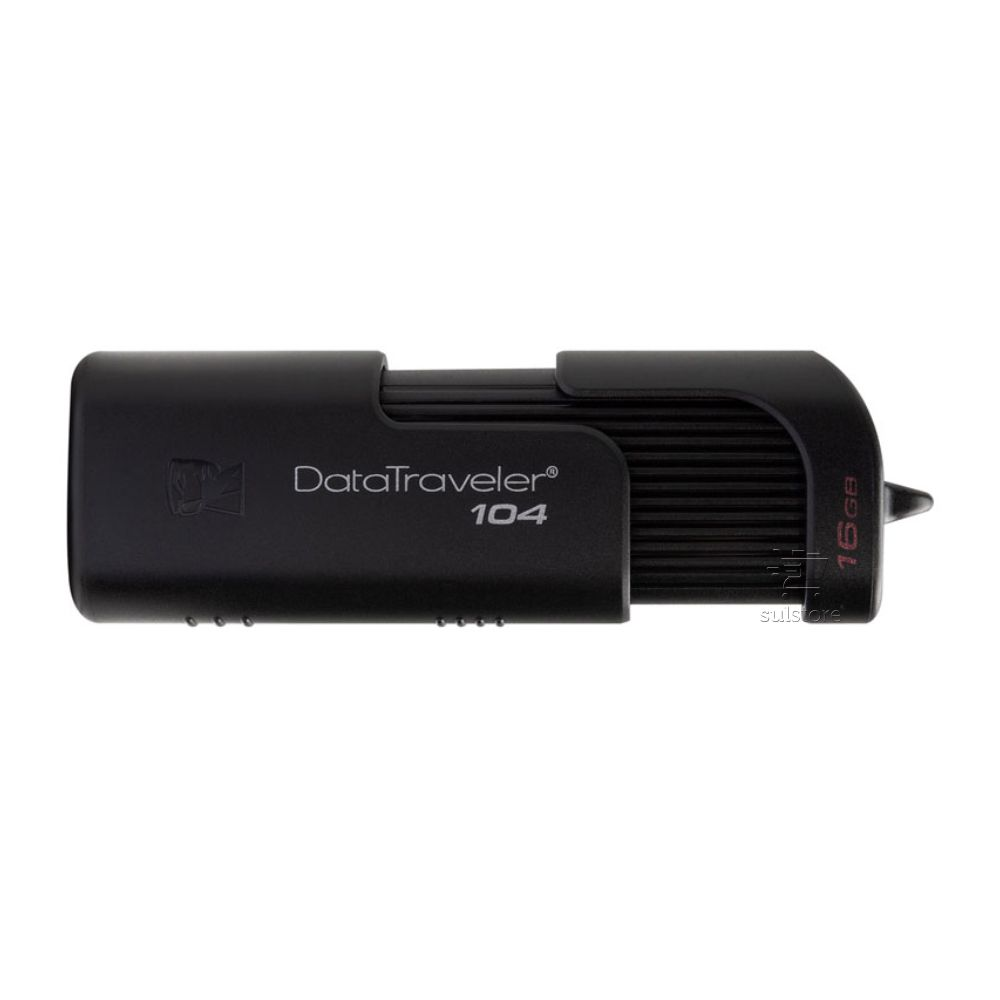 Pendrive Kingston 16 GB DT104 Usb 2.0 Preto DataTraveler Giga