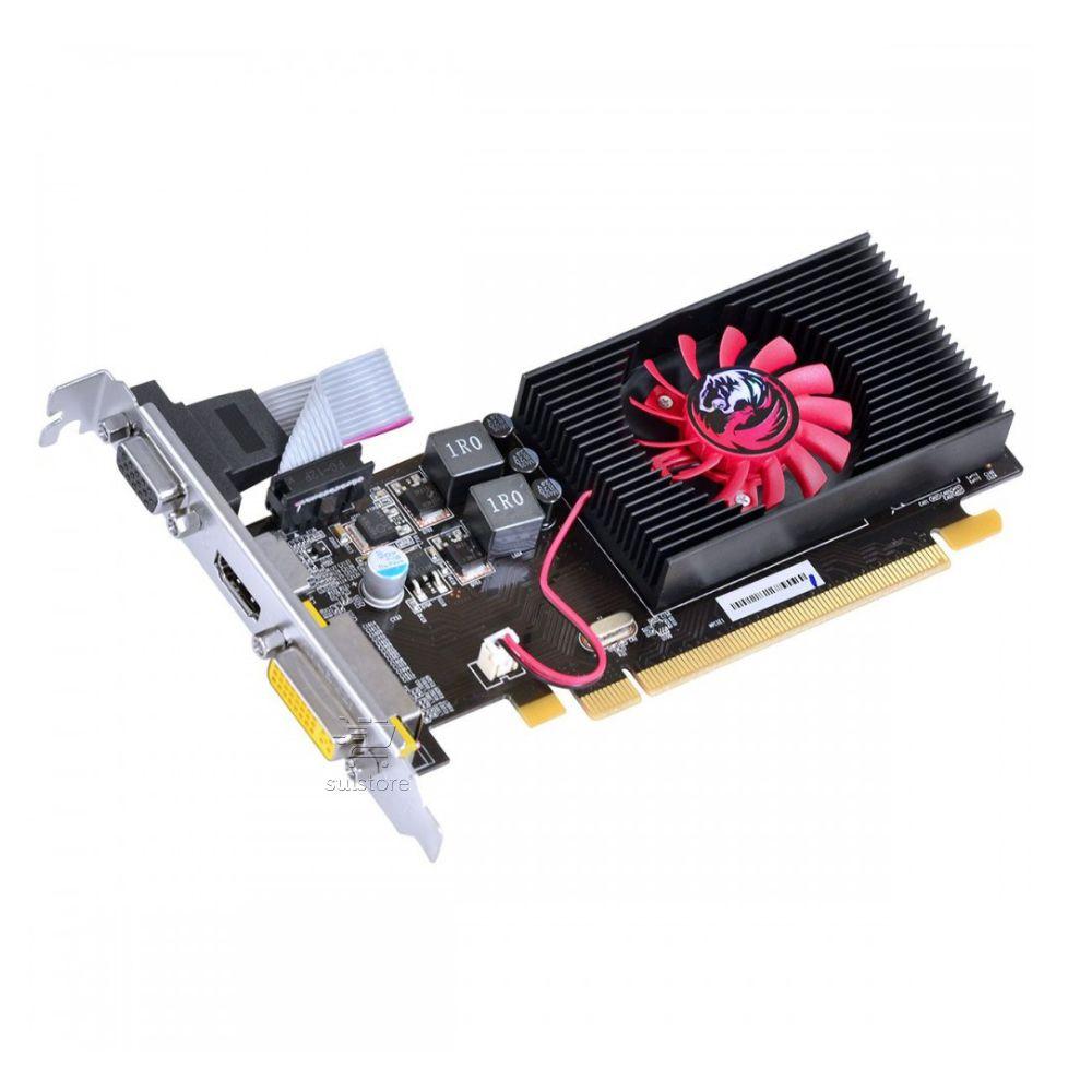 Placa De Vídeo PCYES HD 5450 1GB DDR3 VGA DVI HDMI Com Perfil Baixo Slim