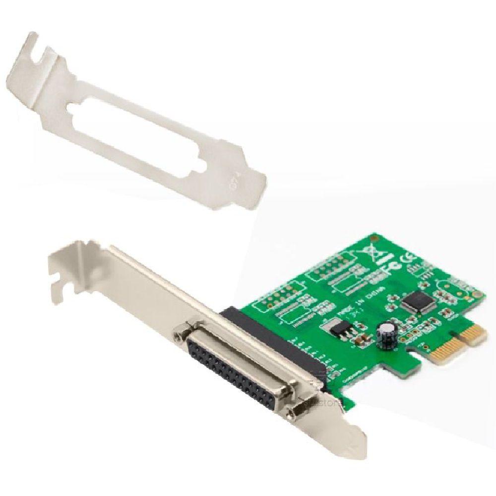 Placa PCI Express X1 para Paralela DB25 Com Perfil Baixo Feasso JPP-03