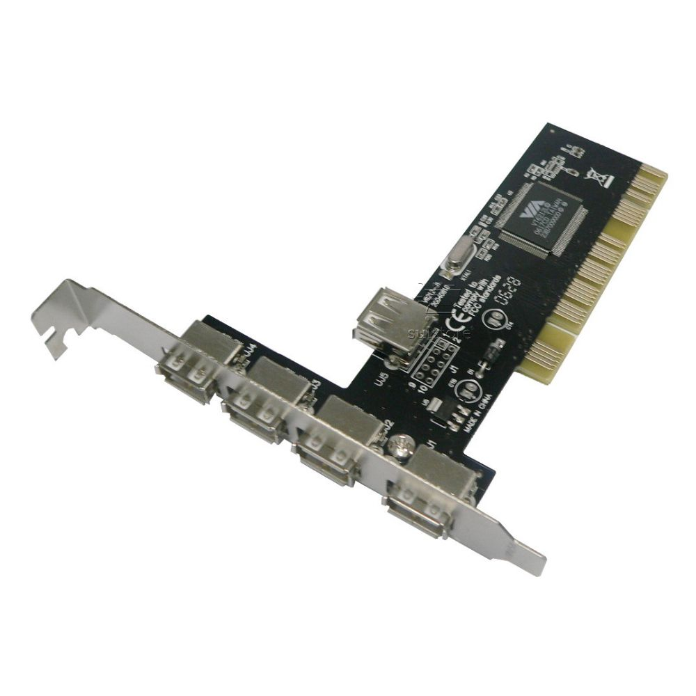 Placa Pci Usb 5 Portas 2.0 480mbps Chipset Via Feasso JPU-01
