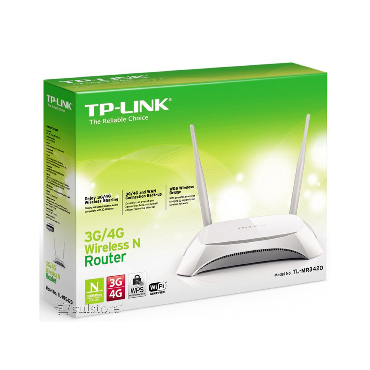 Roteador 3G 4G TP-Link Wireless 300mbps Tl-MR3420 Wireless 2 Antenas