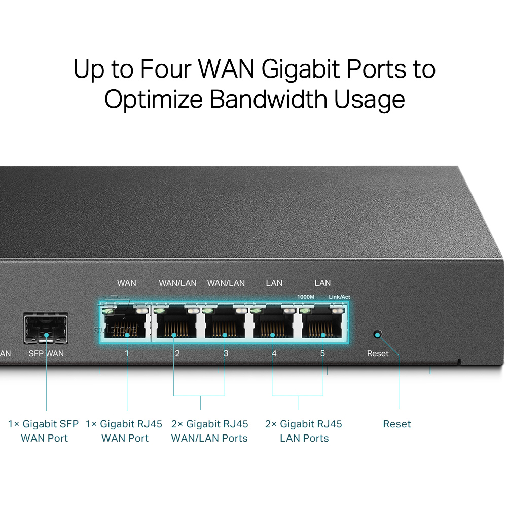 Roteador TP-LINK TL-ER7206 Gigabit Load Balance Safestream 4 WAN VPN Liga até 4 Provedores de Internet
