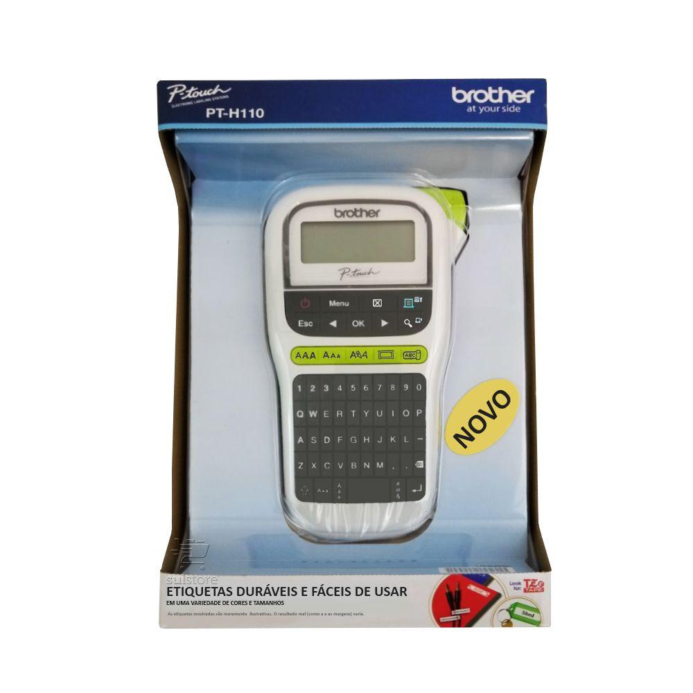 Rotulador Etiquetador Eletrônico Portátil Brother PT H110 PT-H110 PT110 PTH110