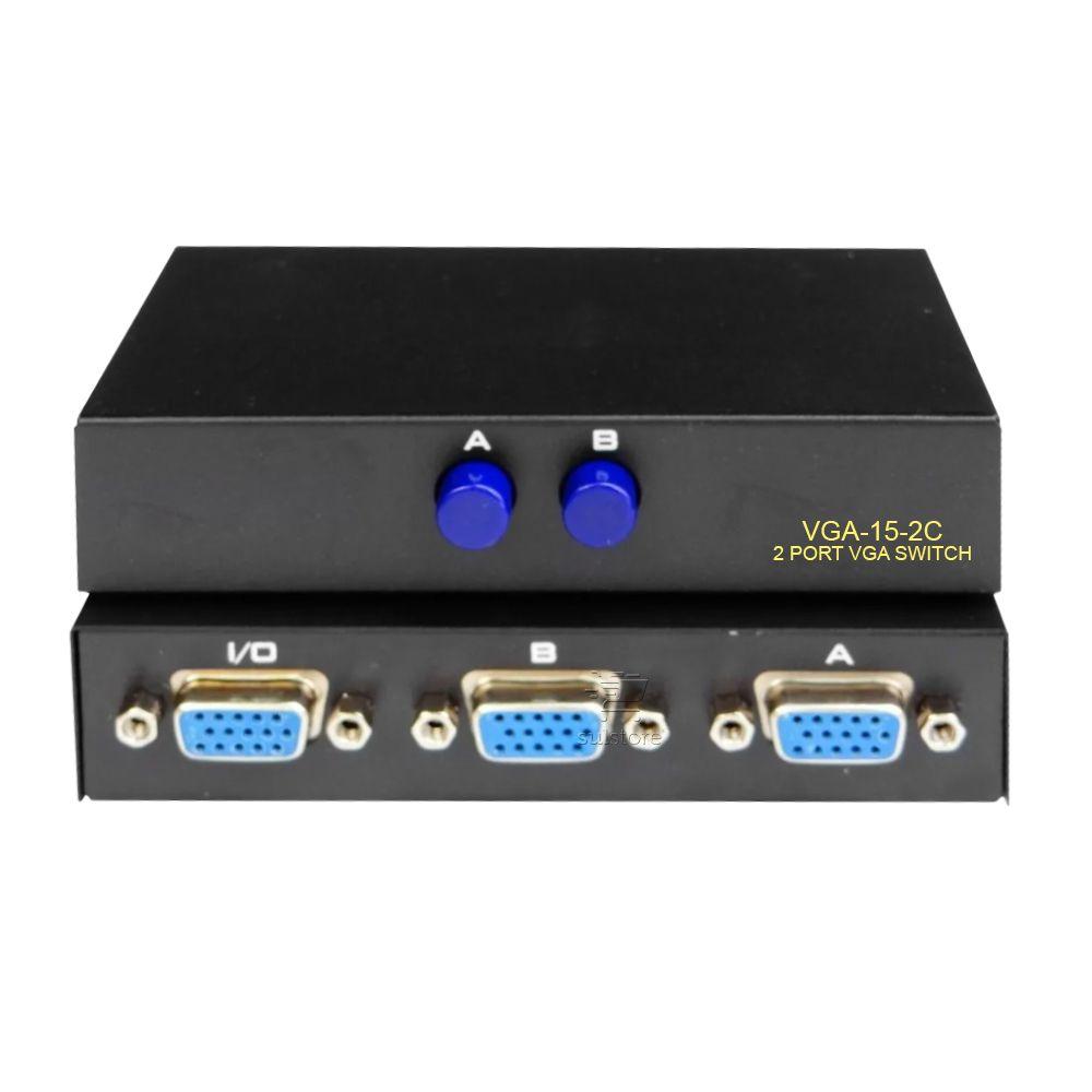 Seletor Chaveador Switch VGA 2 Entradas e 1 Saída VGA-15-2C FULL HD 1080p