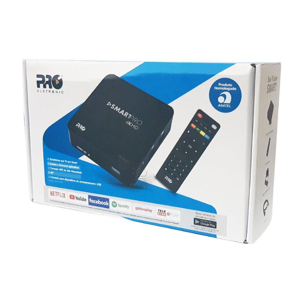 Smart Box Smartpro 4K Hd Prosb-2000 2GB WIFI Para Aplicativos Android na TV