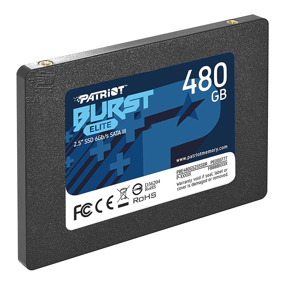 SSD 480GB Patriot Burst Elite SATA 2,5 6Gb/s PBE480GS25SSDR