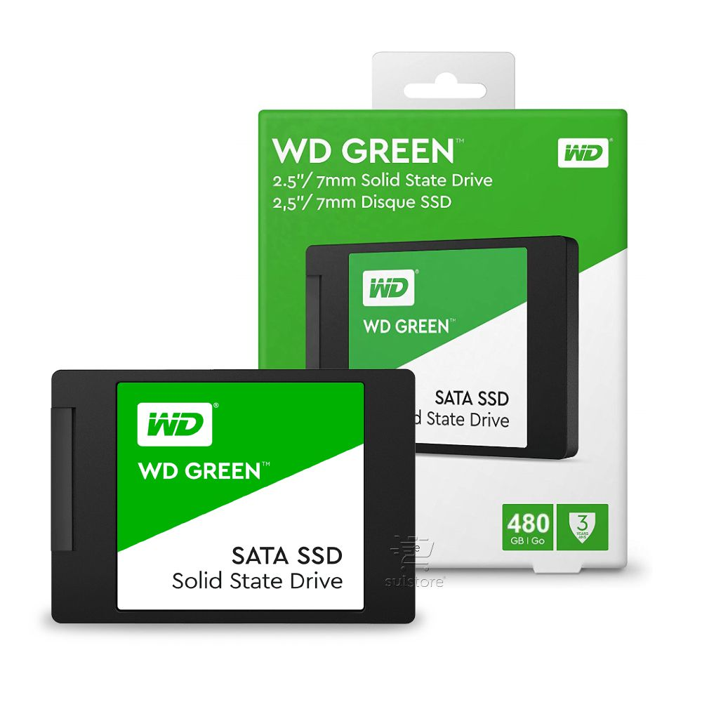 "SSD Western Digital 480GB WD Green 2,5"" 7mm 545mb/s WDS480G2G0A"
