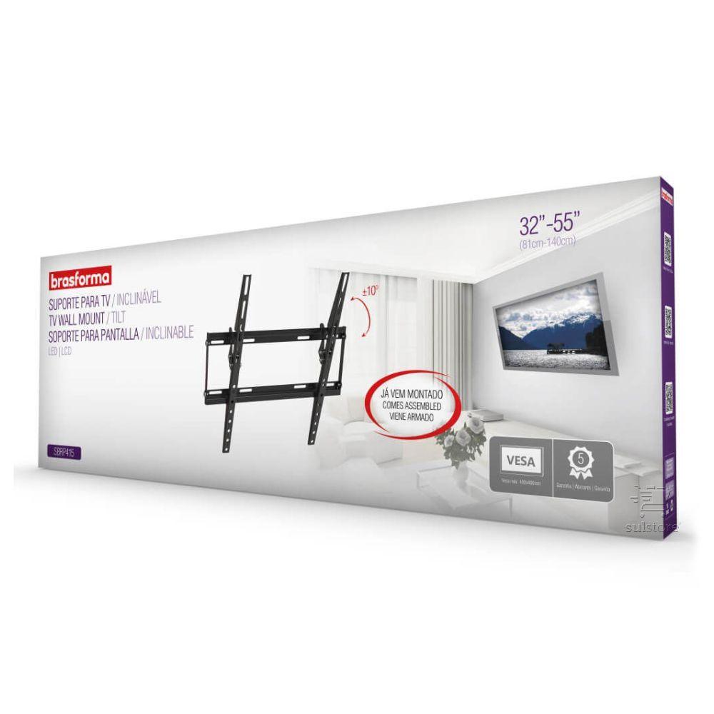 Suporte Inclinável Slim Fixo TV 32 A 55 Brasforma SBRP415