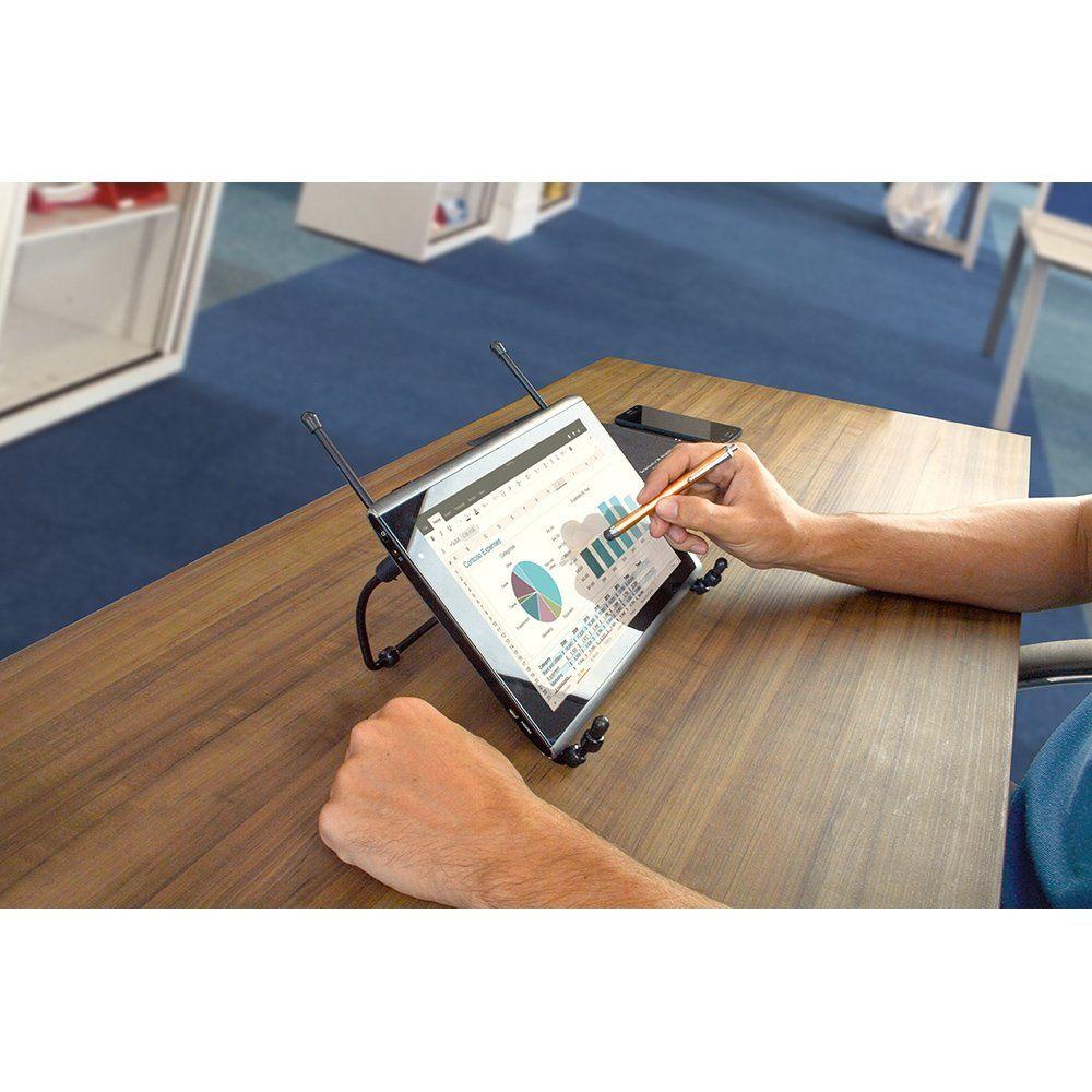 Suporte para Notebook Dobrável em Metal Preto Reliza 1-0602/004
