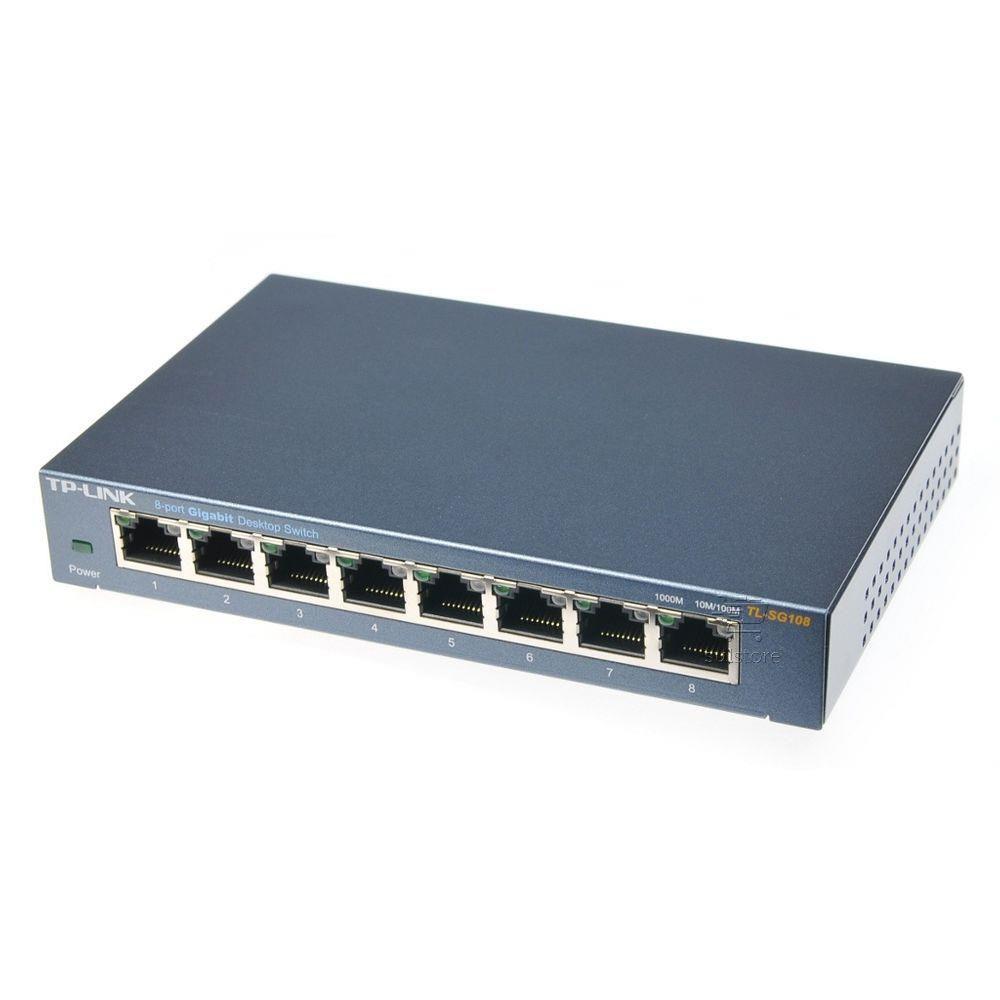 Switch 8 Portas Gigabit 1000 TP-Link Tl-SG108 Com QOS