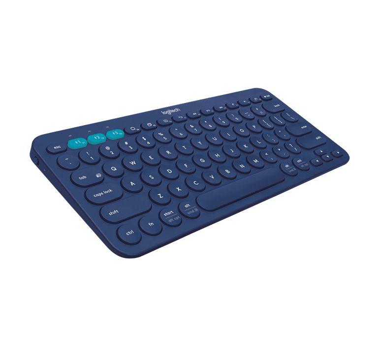 Teclado Bluetooth Logitech K380 Conecta 3 Dispositivos Ao Mesmo Tempo Tecla Azul