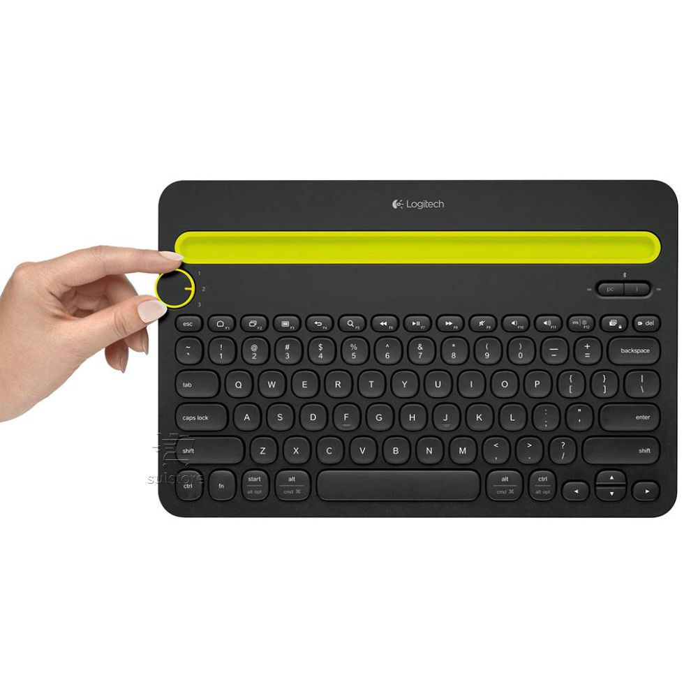 Teclado Bluetooth Sem Fio Logitech K480 Windows Mac Android e IOS