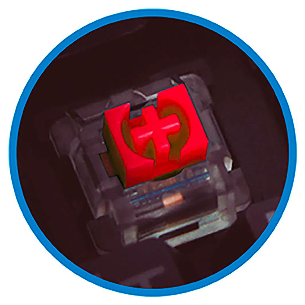Teclado Mecânico Flakes Power Hyper Anti Ghosting Iluminação Rainbow 7 Cores ELG FLKTM002