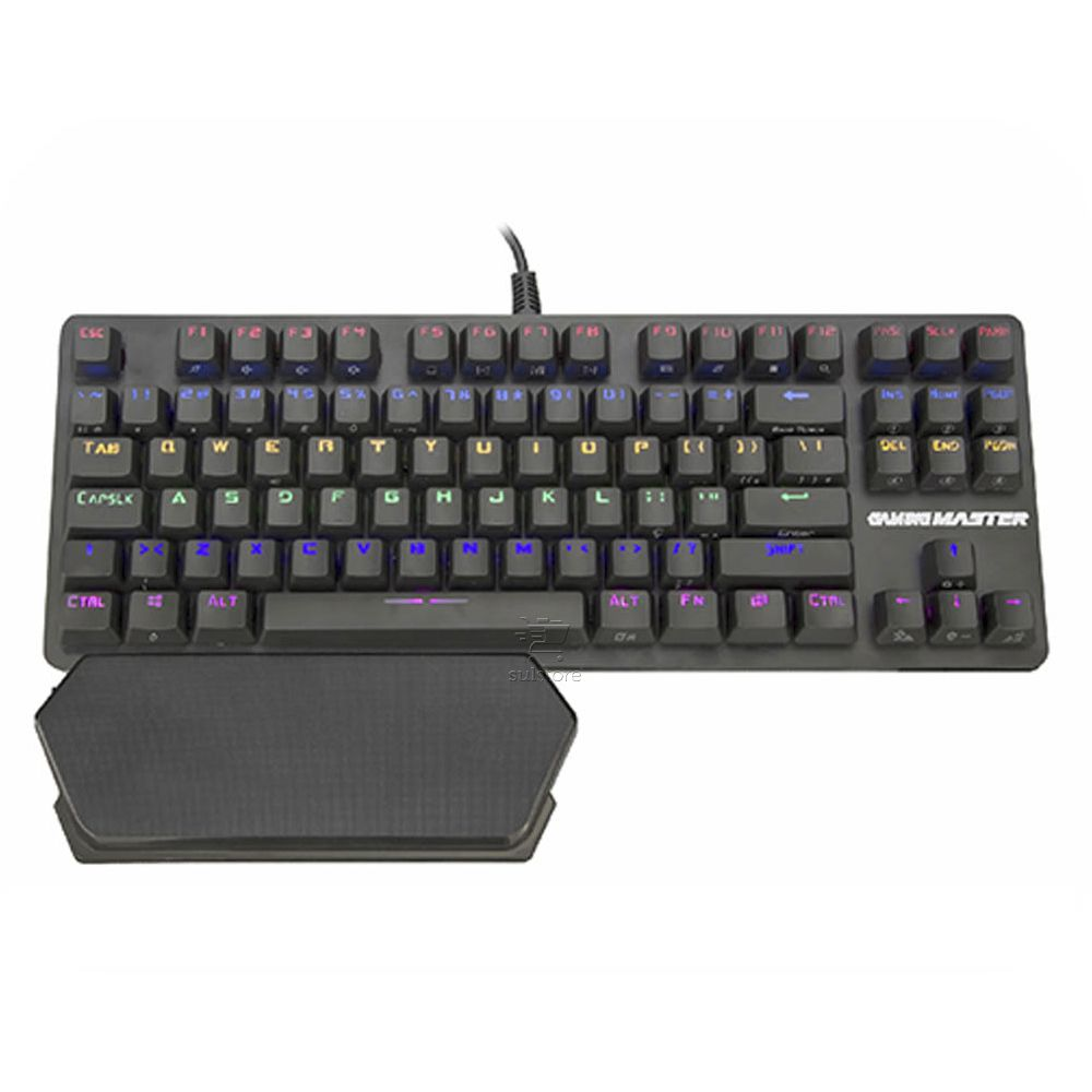 Teclado Mecânico Gamer Profissional LED RGB Switch Azul Aurora KM-D9 Kmex