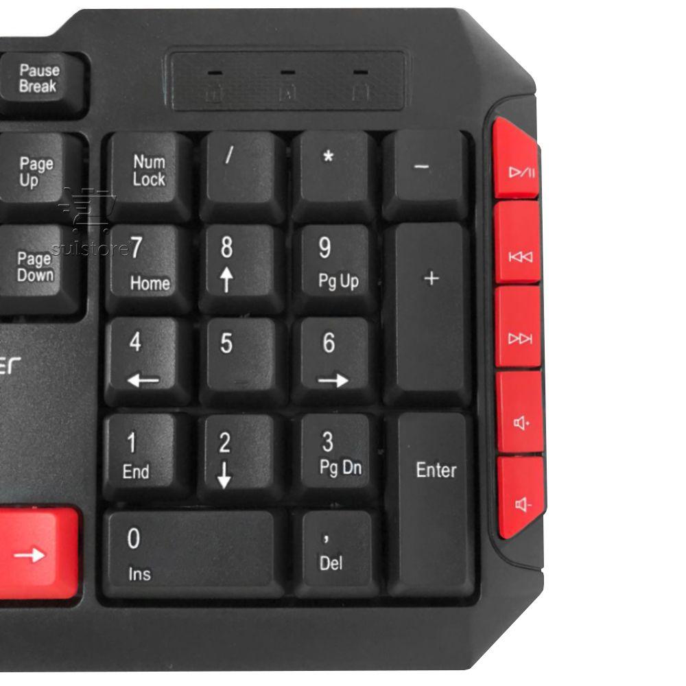 Teclado USB Multimidia Gamer Jogos Red Keys Multilaser Tc160