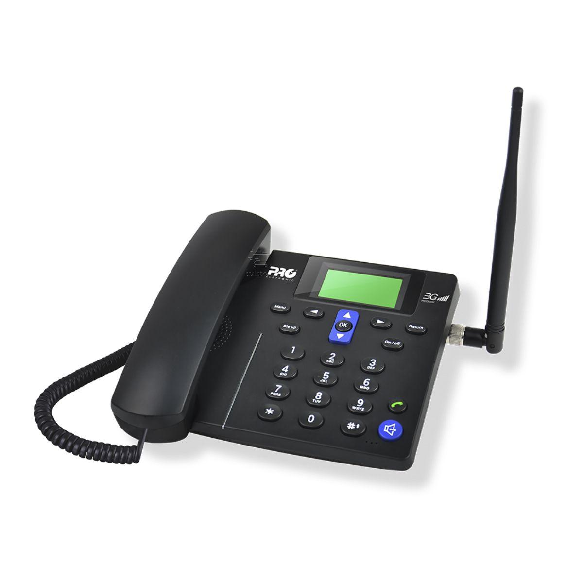 Telefone Celular de Mesa Rural Fazenda Pro Eletronic PROCS-5030 3G Desbloqueado