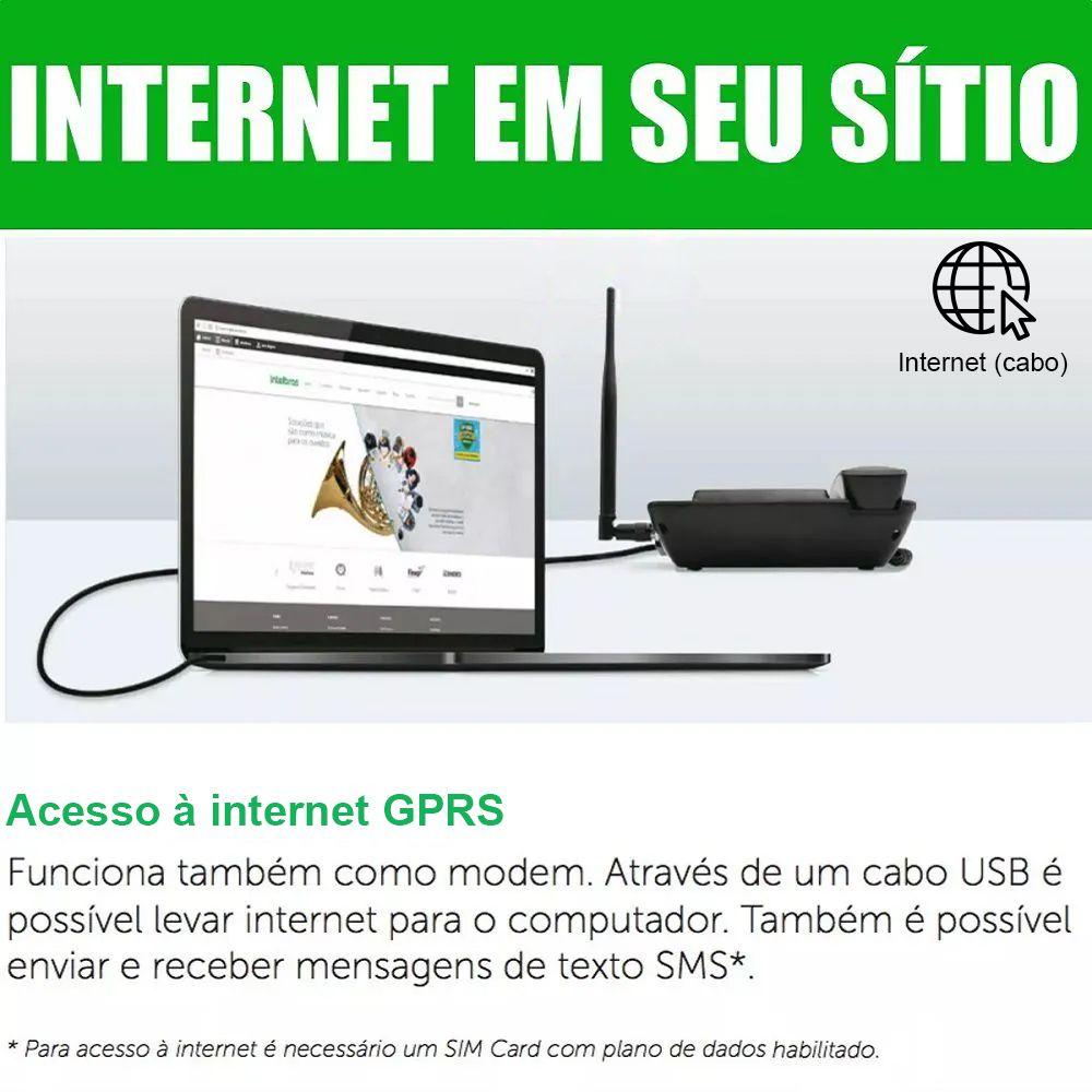 Telefone Celular Fixo Rural 3G Intelbras CF6031 Desbloqueado com Internet