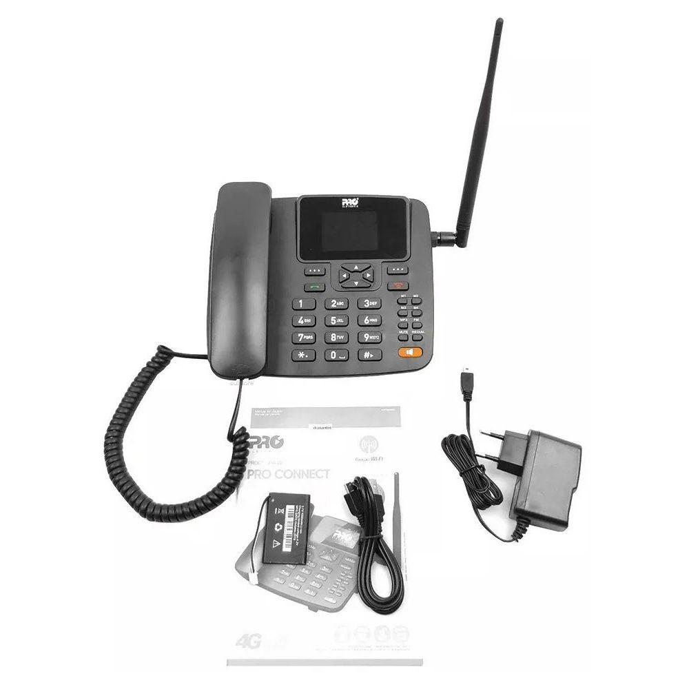 Telefone Celular Rural De Mesa 4G com Roteador Wifi 7 Bandas PROCS-5040W ProEletronic