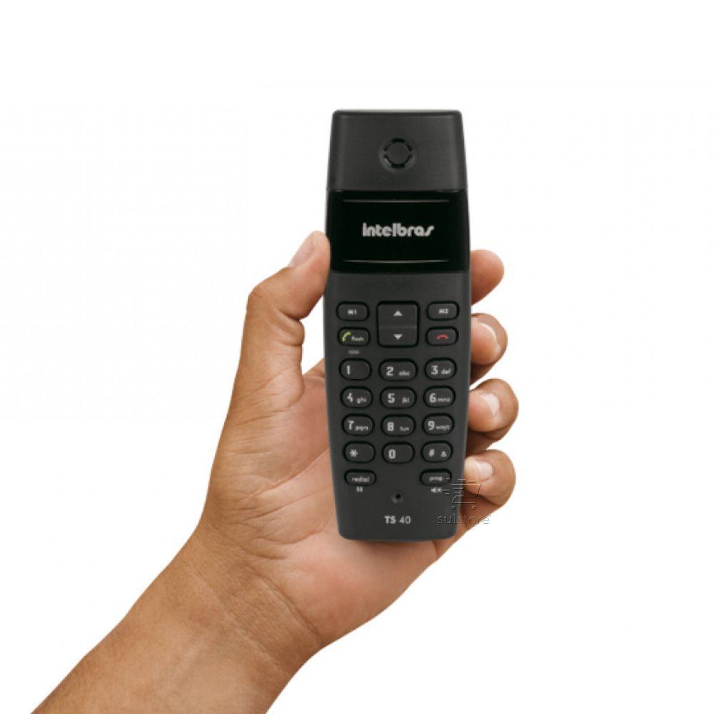Telefone sem Fio Digital Intelbras TS40 DETC 6 Preto