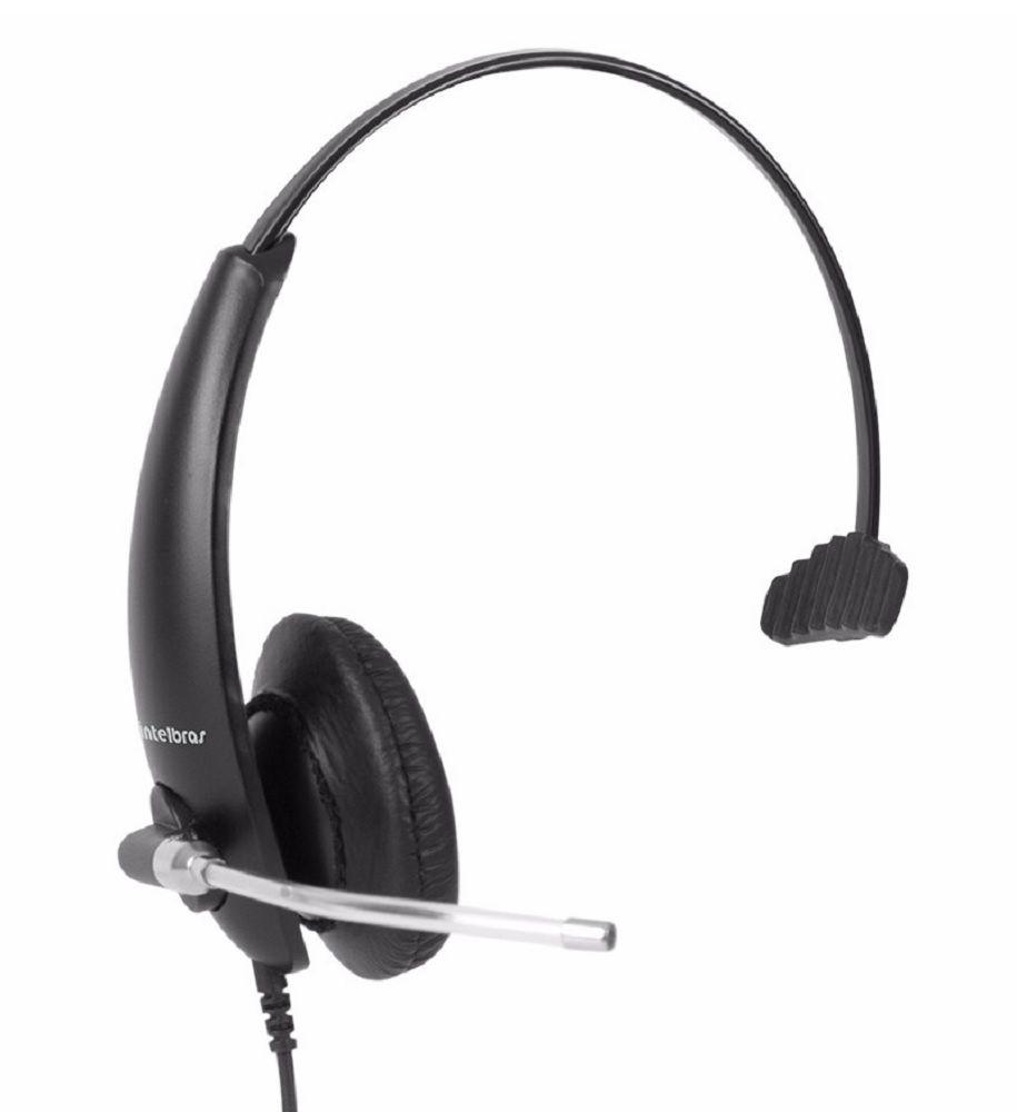 Tiara Headset Intelbras THS 50 Monoauricular Conector QD Quick Disconnect