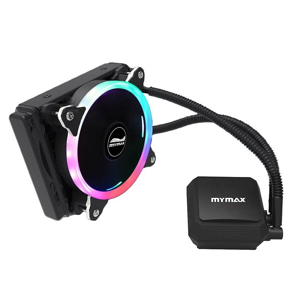 Water Cooler RGB Algor 120mm Alta Performance para Intel e AMD Mymax MYC/FC-V2-120MM/RGB