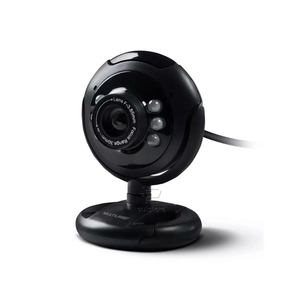 Webcam Visão Noturna 16mp Com Microfone Embutido WC045 Multilaser