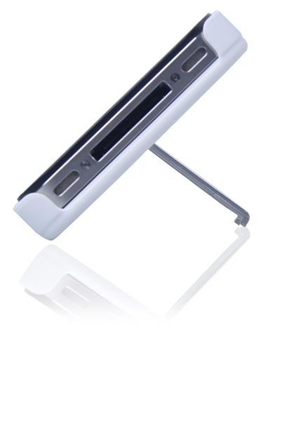 Capa E Suporte Multilaser Para Iphone 4/4s Branco E Prata - Bo325