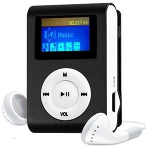 MP3 Player com Entrada SD e Fone de Ouvido Preto