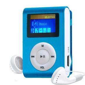 MP3 Player com Entrada SD e Fone de Ouvido Azul
