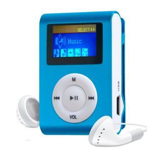 MP3 Player com Entrada SD e Fone de Ouvido Azul + Mc058