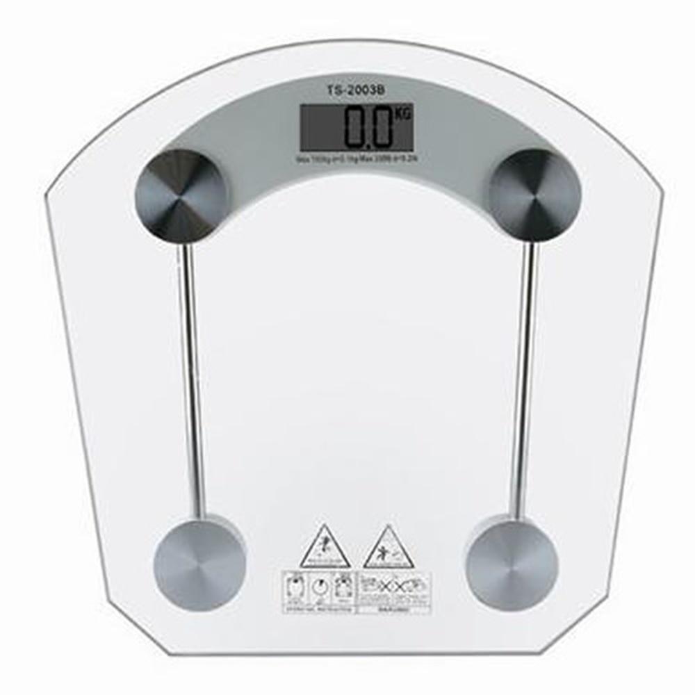 Balança Eletrônica Digital 150 kgs Quadrada Vidro Temperado
