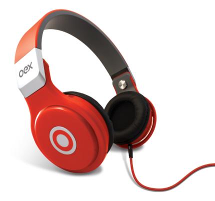 Fone de Ouvido Oex Headphone Groove Vermelho Hp102