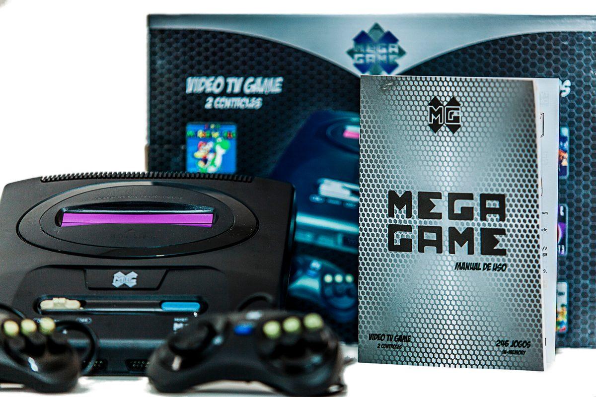 Video Game Mega Game  123 Jogos Em 246 versões  C/2 controles