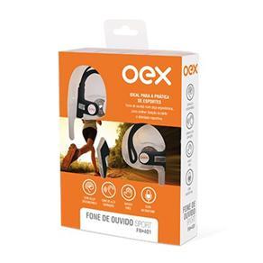 Fone de Ouvido Sport FN401 Preto e Vermelho - OEX 1021697