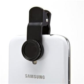 Kit Lente 3 x 1 Fisheye + Wide + Macro Iphone Galaxy Universal Vermelho