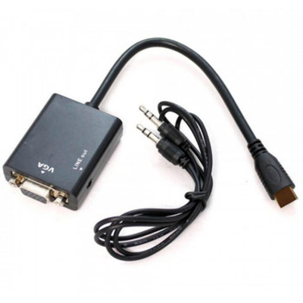 Cabo Adaptador Conversor Hdmi Para Vga Com Saída P2 De Áudio Gbmax