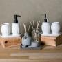 Acessórios para Banheiro Lavabo 3 peças Paris Branco e Preto - Lyor
