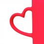Caneca de Porcelana 350ml Luminus Heart Rosa - Lyor